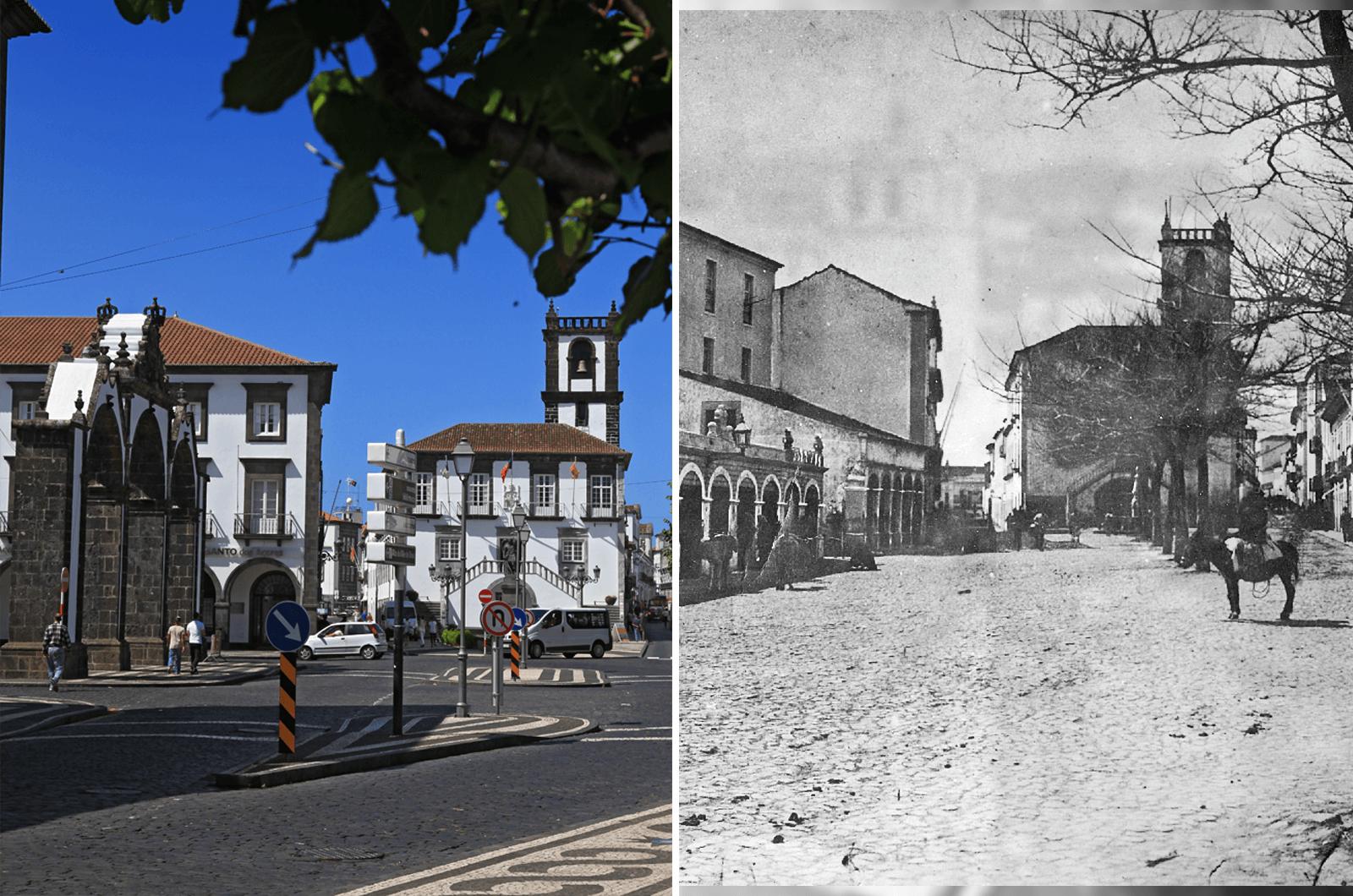 """Ponta Delgada Hoje e """"Ontem"""": Evolução da cidade ao longo de séculos!"""