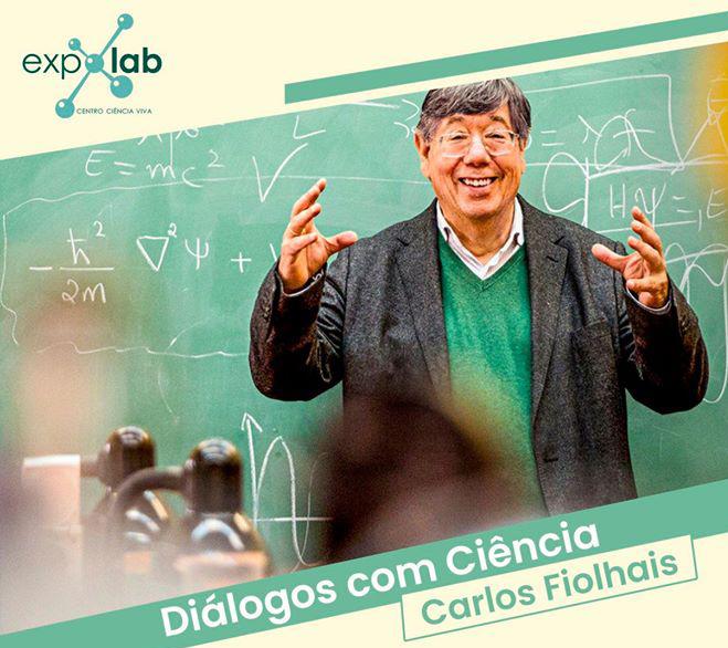 Professor Carlos Fiolhais no Expolab