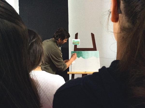 Workshop de pintura nível I nas Capelas