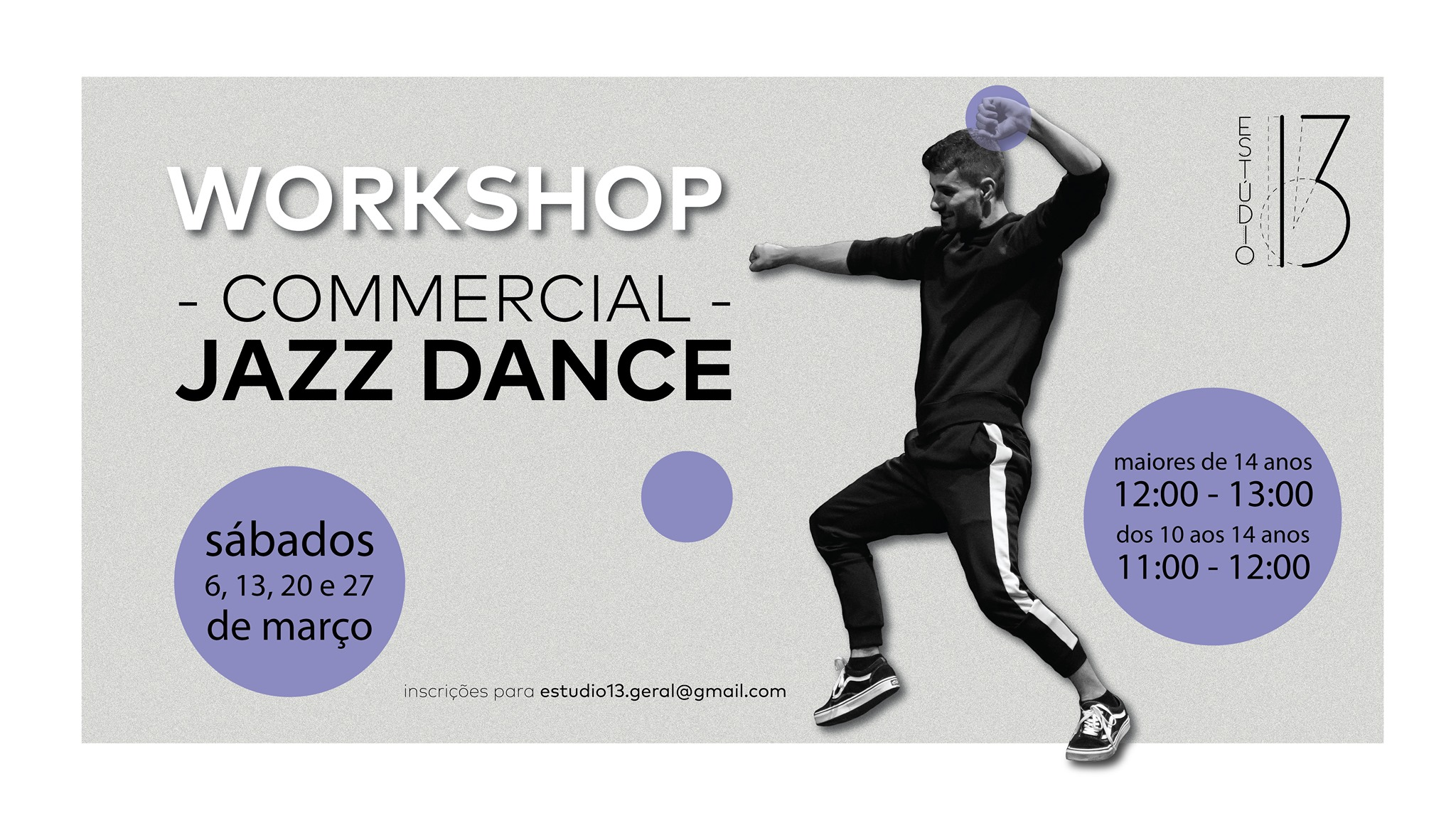 Workshop de Commercial Jazz Dance com João Soares