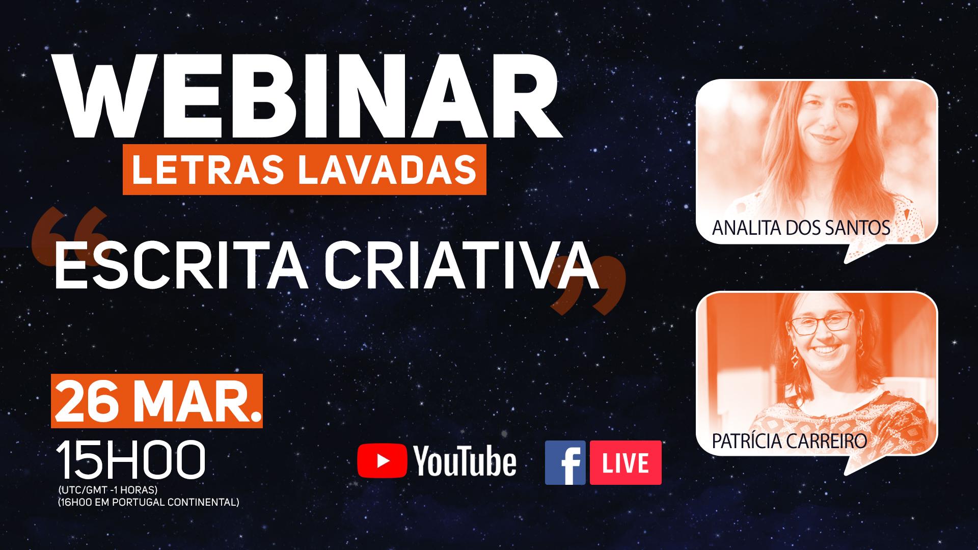 Webinar de Escrita Criativa com Analita Alves dos Santos