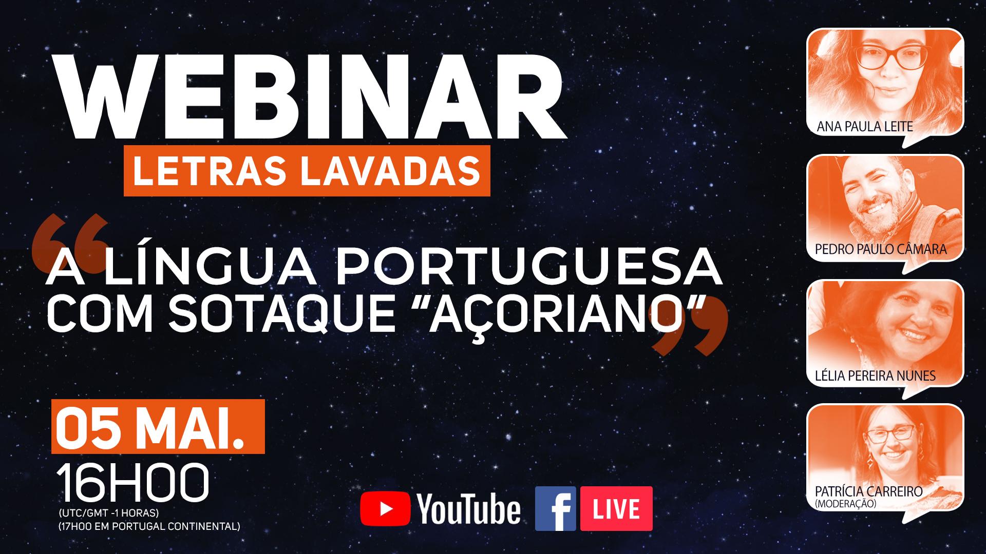 Webinar A Língua Portuguesa com sotaque 'açoriano'