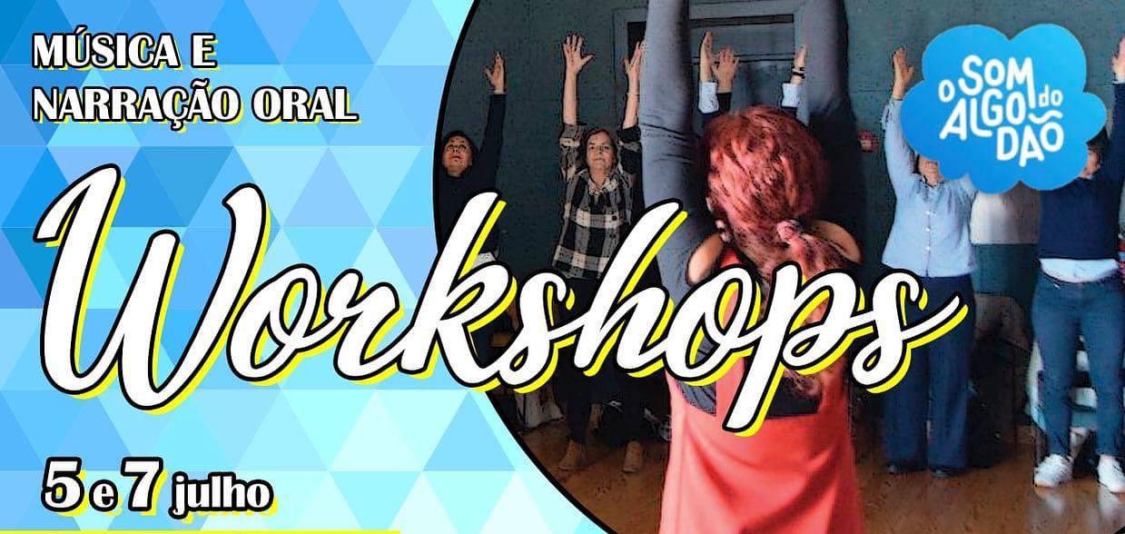 Workshops em música e narração oral