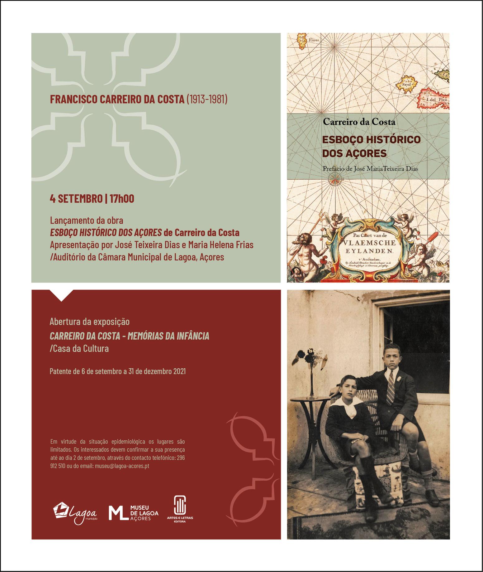 Read more about the article Lançamento de obra e exposição sobre Francisco Carreiro da Costa
